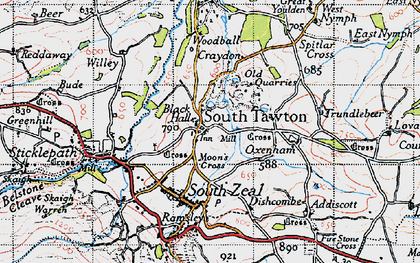 Old map of West Nymph in 1946