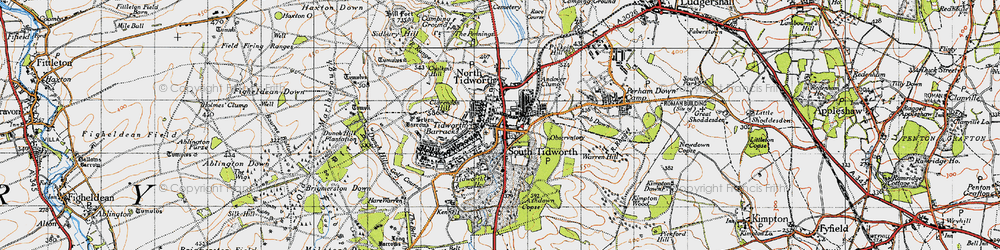Old map of South Tidworth in 1940
