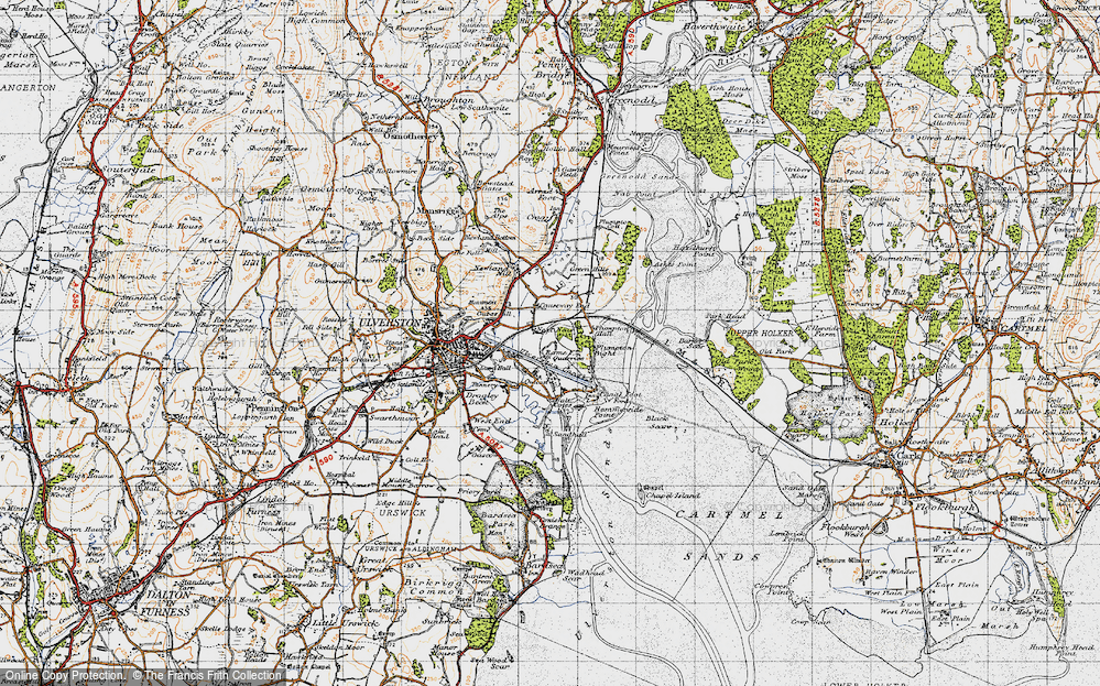 Old Map of South Ulverston, 1947 in 1947