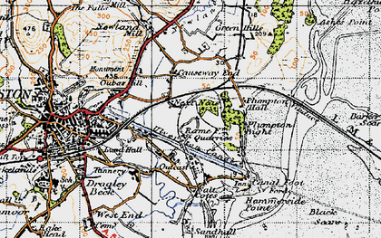 Old map of South Ulverston in 1947