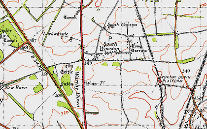 Old map of Worthy Down in 1945