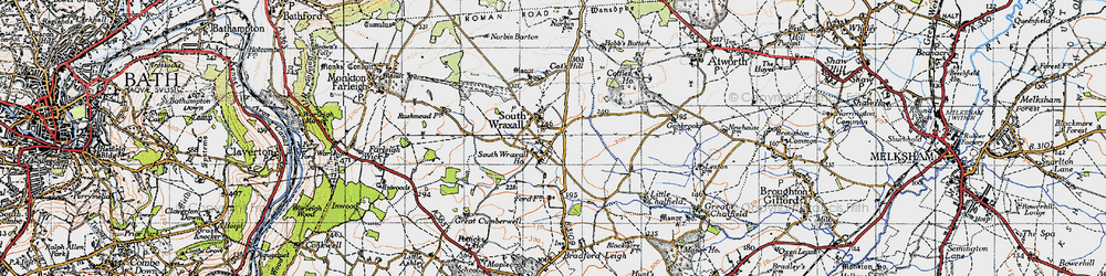 Old map of South Wraxall in 1946