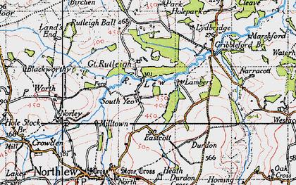 Old map of Lewmoor in 1946