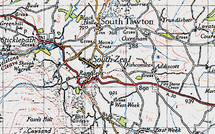 Old map of West Wyke in 1946
