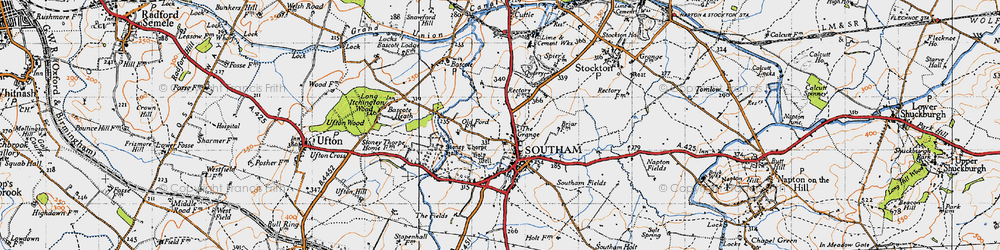 Old map of Southam in 1946