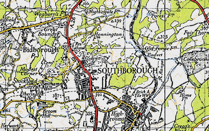 Old map of Southborough in 1946