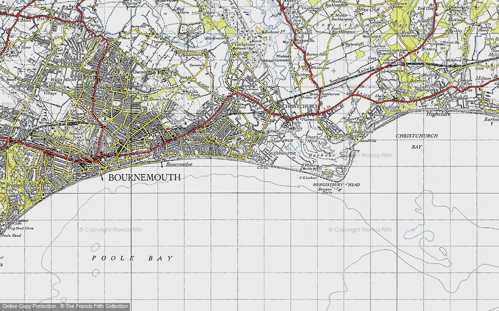 Old Map of Southbourne, 1940 in 1940
