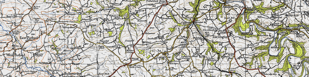 Old map of West Wooda in 1946