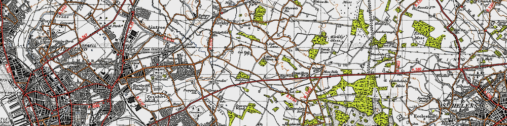 Old map of Southdene in 1947