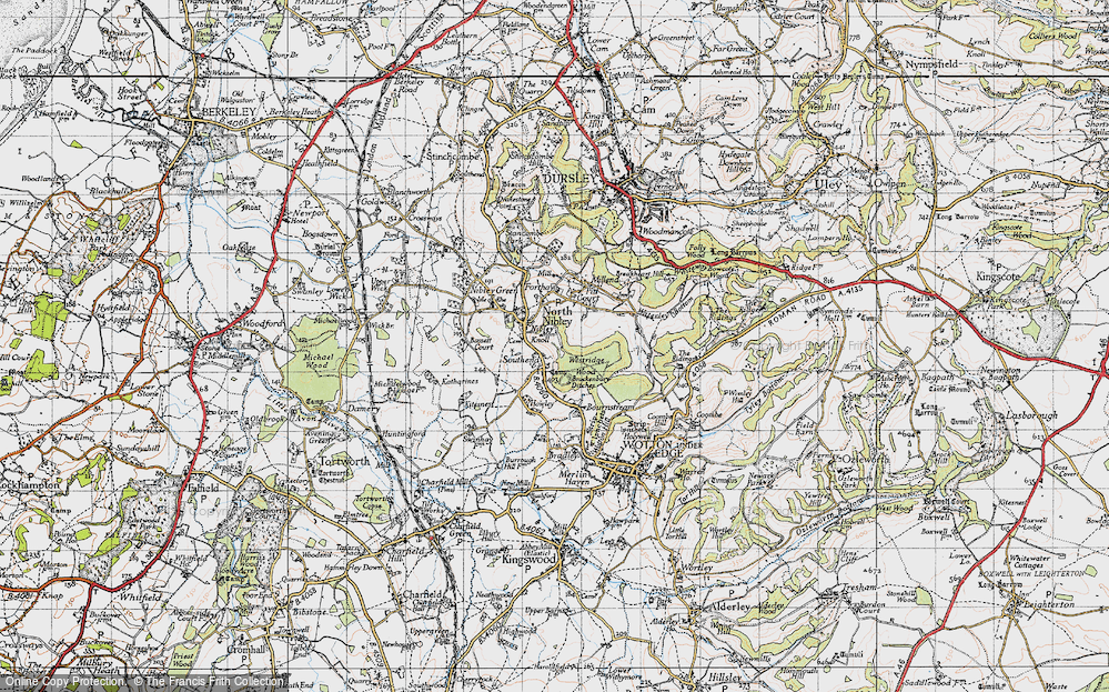 Old Map of Historic Map covering Westridge Wood in 1946