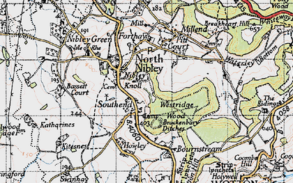 Old map of Westridge Wood in 1946