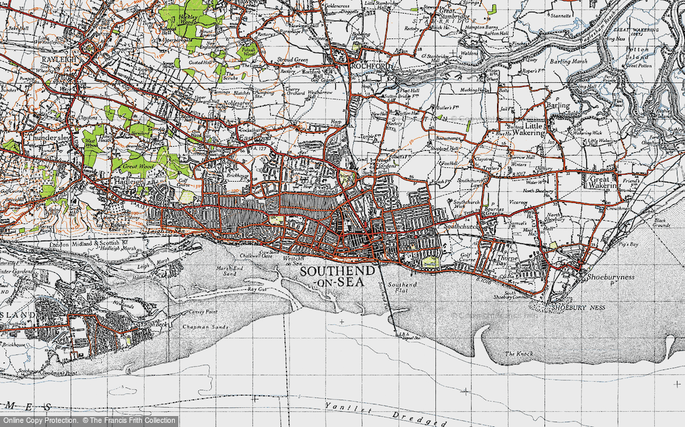 Old Map of Historic Map covering Grampian in 1945