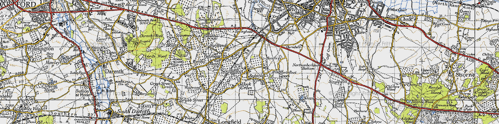 Old map of Vagniacis in 1946