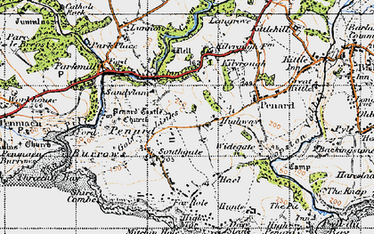 Old map of Southgate in 1947