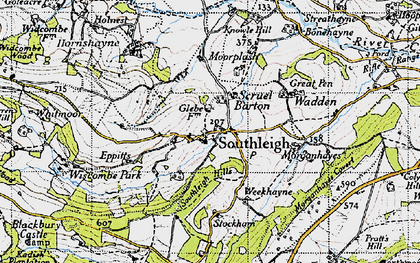 Old map of Wiscombe Park in 1946