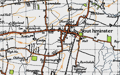Old map of Southminster in 1945