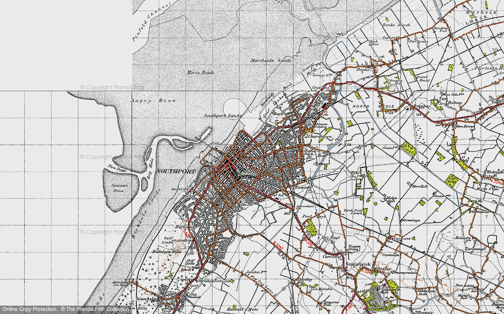 Old Map of Southport, 1947 in 1947