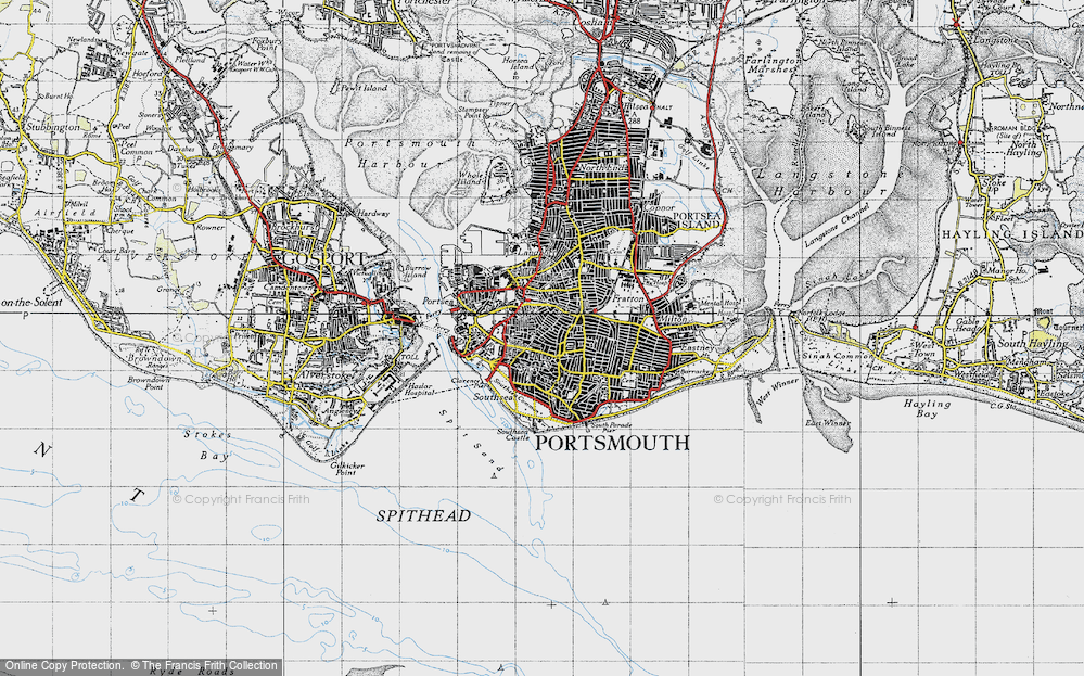 Old Map of Southsea, 1945 in 1945