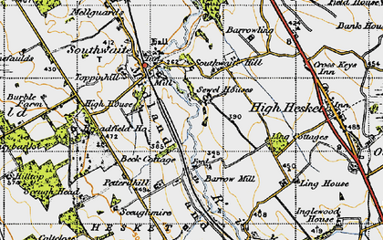 Old map of Ling Cotts in 1947