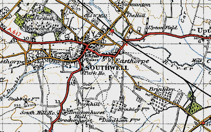 Old map of Southwell in 1946