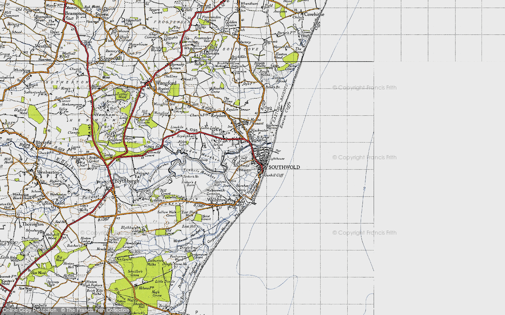Old Map of Southwold, 1946 in 1946