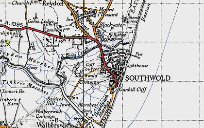 Old map of Southwold in 1946