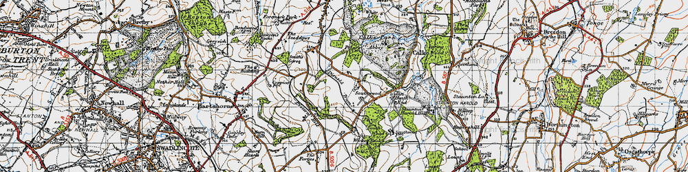 Old map of Wicket Nook in 1946