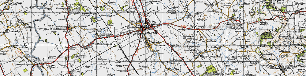 Old map of Sowerby in 1947
