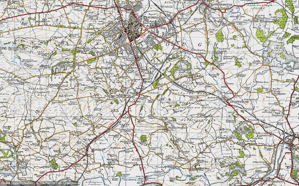 Old Map of Historic Map covering Almsford Br in 1947
