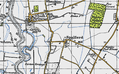 Old map of Wigsley Wood in 1947