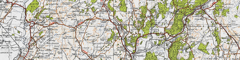 Old map of Thurston Ville in 1947