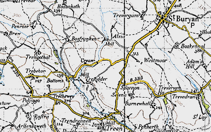 Old map of Sparnon in 1946