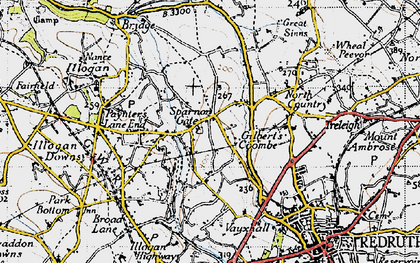 Old map of Sparnon Gate in 1946