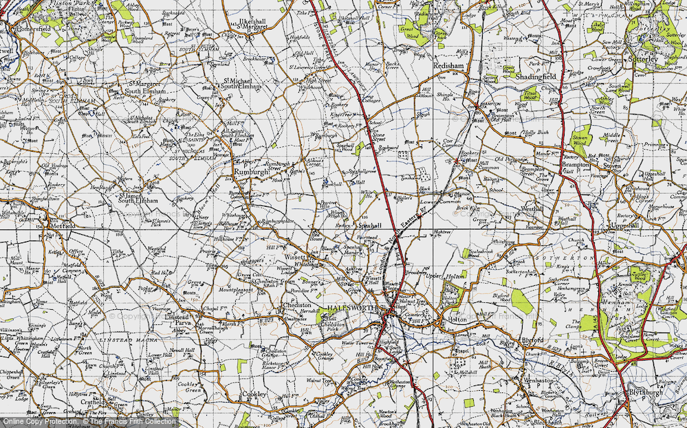 Old Map of Spexhall, 1946 in 1946