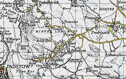 Old map of Splatt in 1946