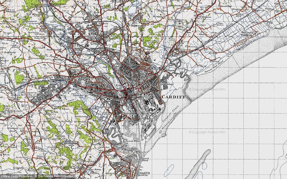 Old Map of Splott, 1947 in 1947