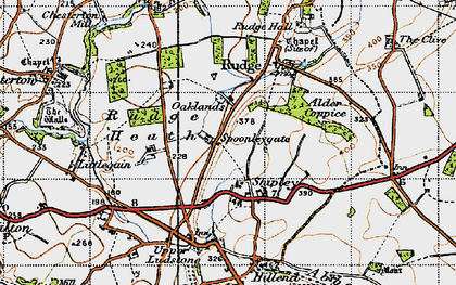 Old map of Alder Coppice in 1946