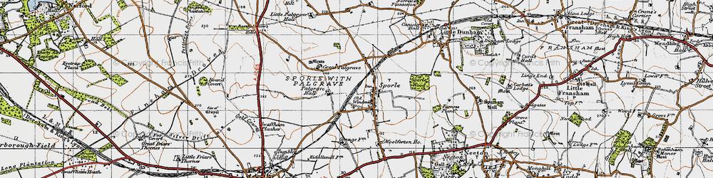 Old map of Wolferton Ho in 1946