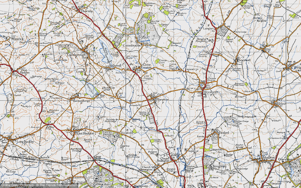 Old Map of Spratton, 1946 in 1946