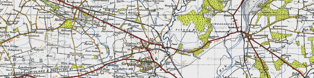 Old map of Westgillsyke in 1947