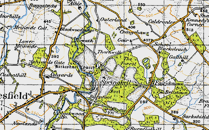 Old map of Ashyards in 1947