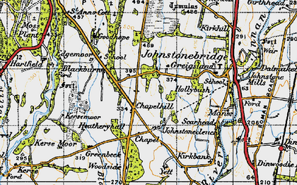 Old map of Yett in 1947
