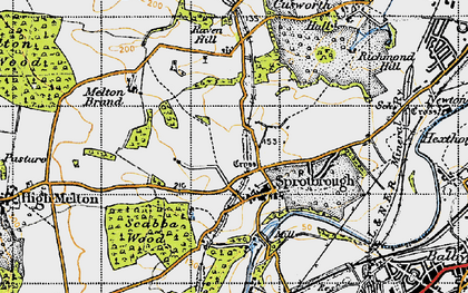 Old map of Sprotbrough in 1947