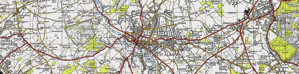 Old map of St Albans in 1946