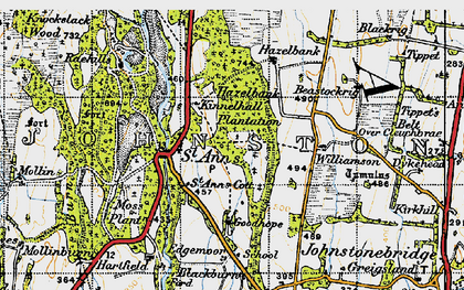 Old map of Williamson in 1947