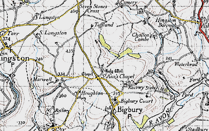 Old map of St Ann's Chapel in 1946