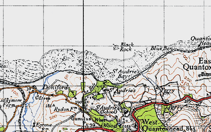 Old map of St Audrie's Bay in 1946