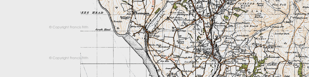 Old map of St Bees in 1947