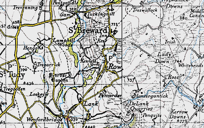 Old map of St Breward in 1946