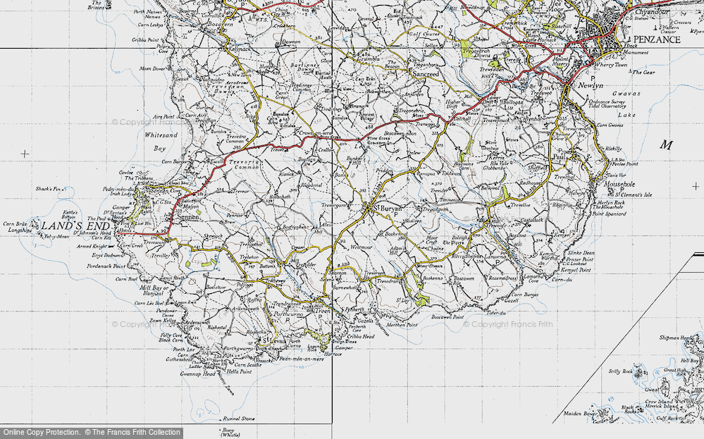 Old Map of St Buryan, 1946 in 1946